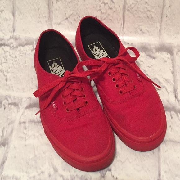 Vans Shoes | Vans Monochrome Red